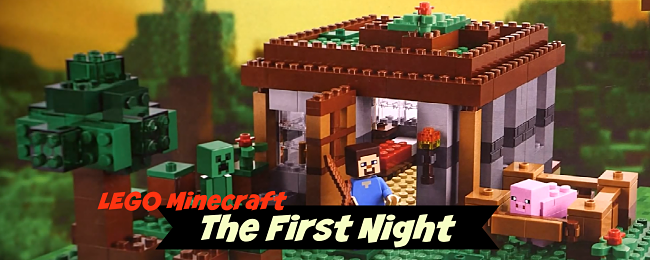 The First Night Minecraft Lego Set
