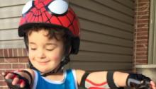 Spiderman Helmet and Knee Pads
