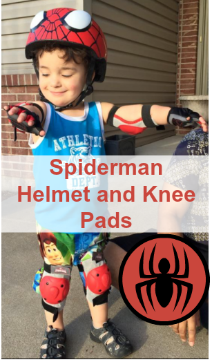 Spiderman Helmet and Knee Pads
