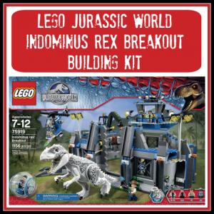 LEGO Jurassic World Indominus Rex Breakout Building Kit