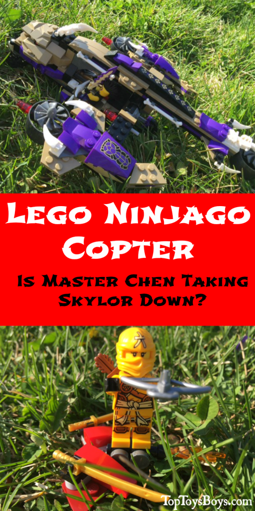 Lego NinJago Copter - Is Master Chen Taking Skylor Down