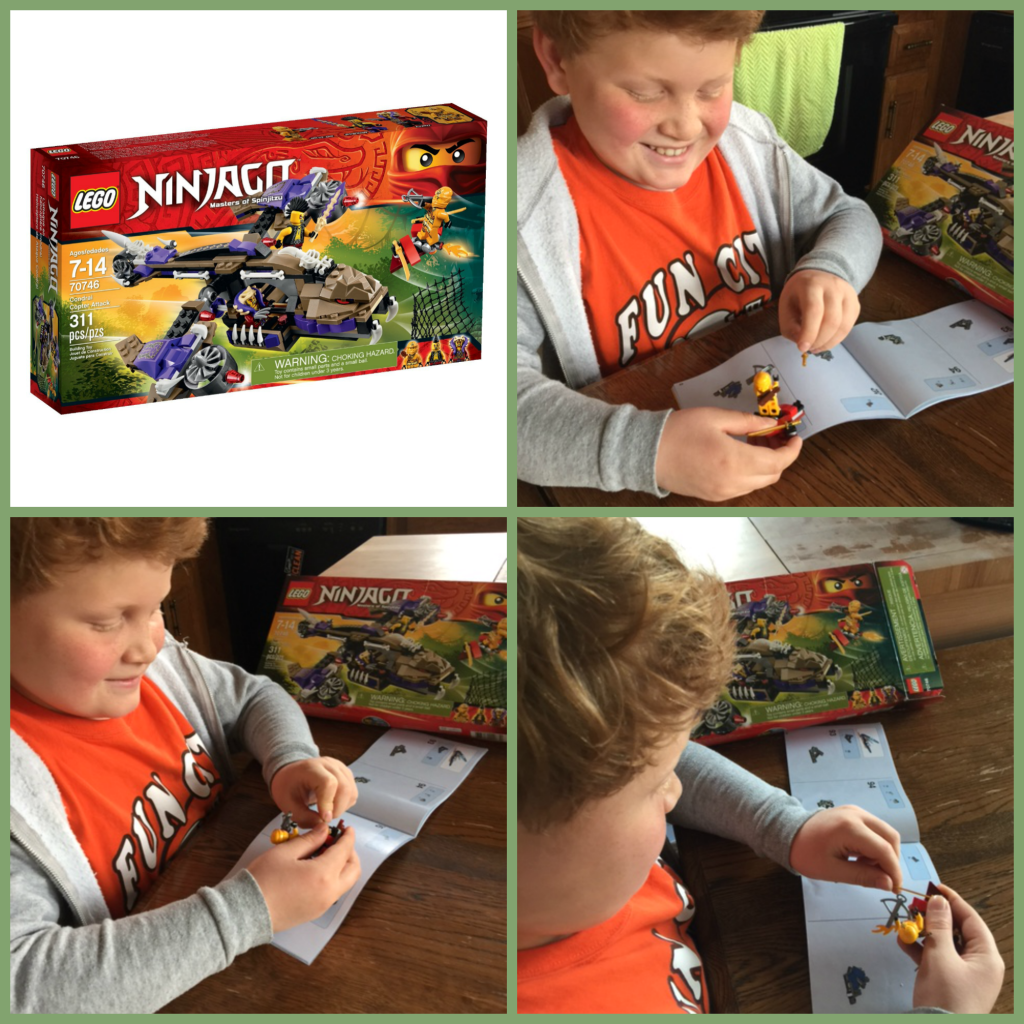 Putting Together the Ninjago Condrai Copter Lego