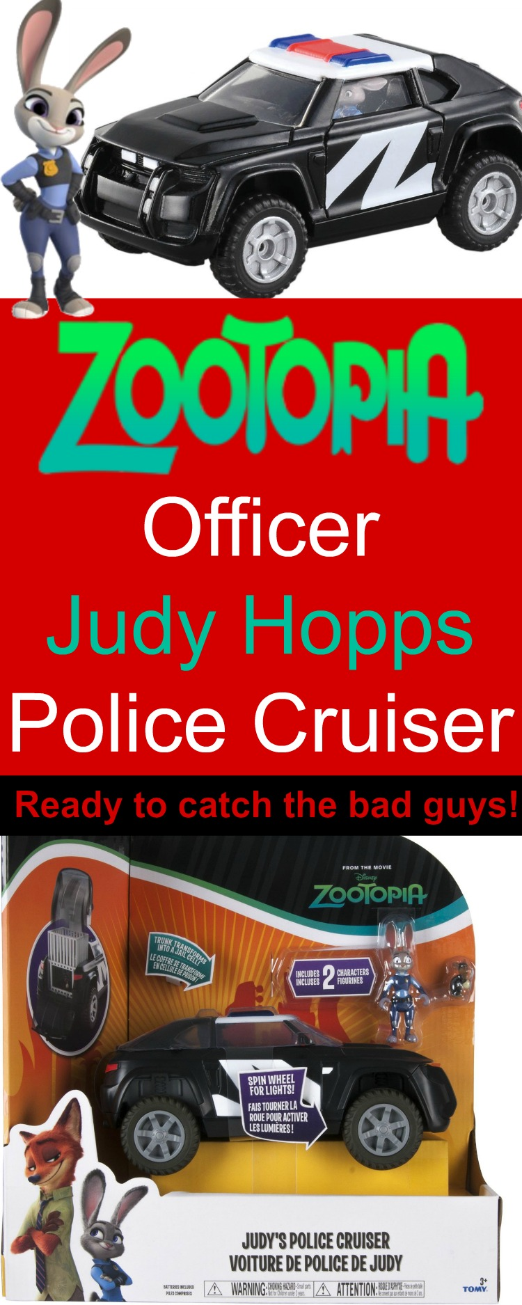 Zootopia Police Cruiser! Look out Zootopia...here comes Judy!