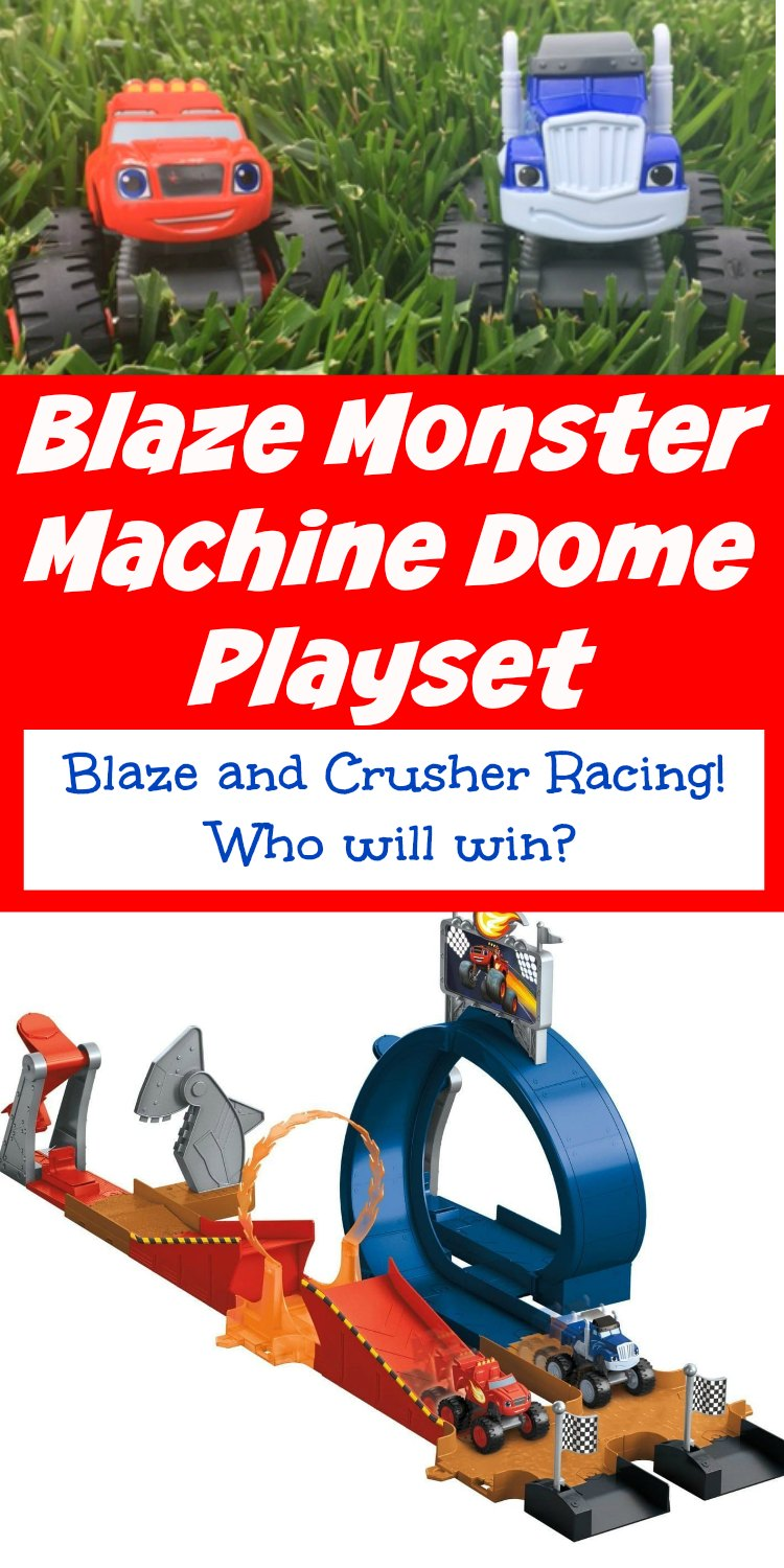 Blaze Monster Machine Dome Playset is perfect for racing Blaze and Crusher and all the other Monster Machines. Set it up anyway you want. It's Time To Rumble!!!