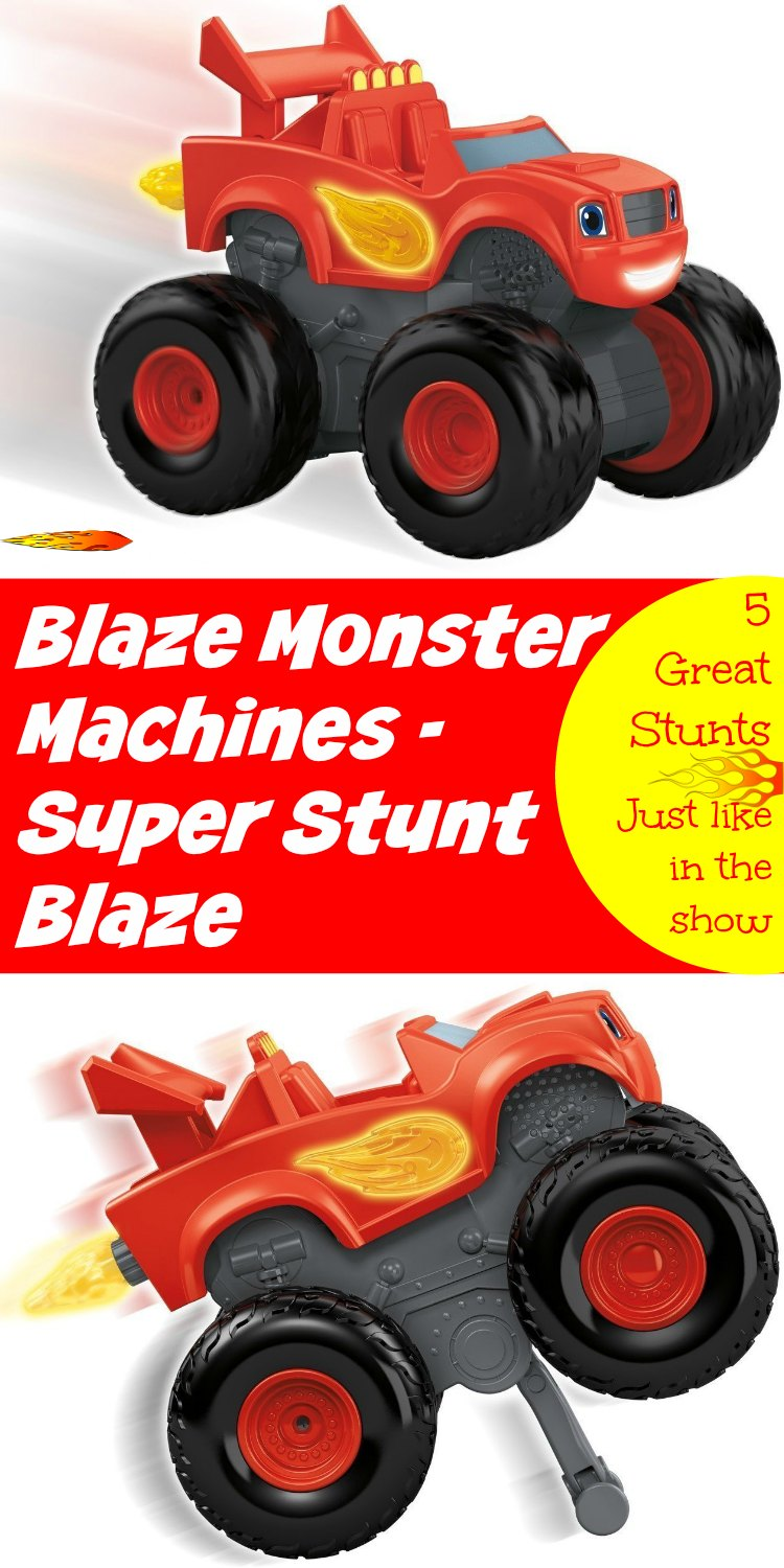 Blaze Monster Machines Super Stunt Blaze will keep your kids going all day.