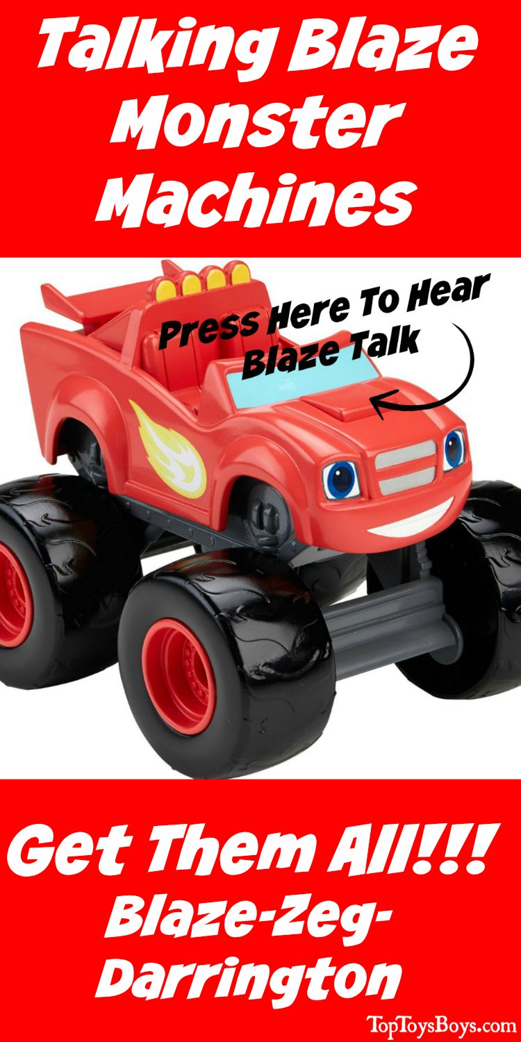 Talking Blaze Monster Machines - They have so much to say and so many races to win! If your kids like this TV show, they will love to play with the monster machines from the show. Great gift idea for any PreSchooler.