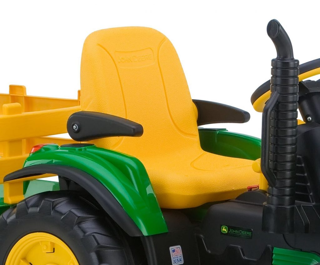 Drivers Seat on John Deer Tractor Toy for Kids