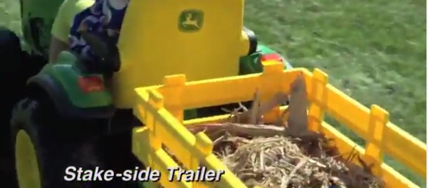 John Deere Kids Ride Tractor Trailer