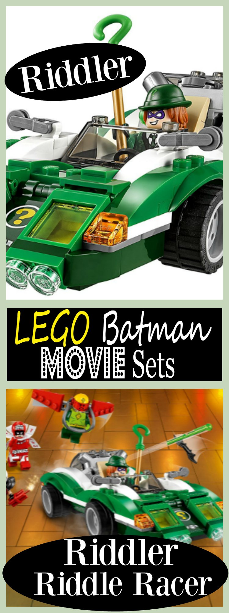 Lego Batman Movie Sets Riddler Riddle Racer Car