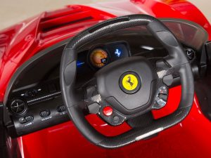 ferrari electric ride on car dashboard