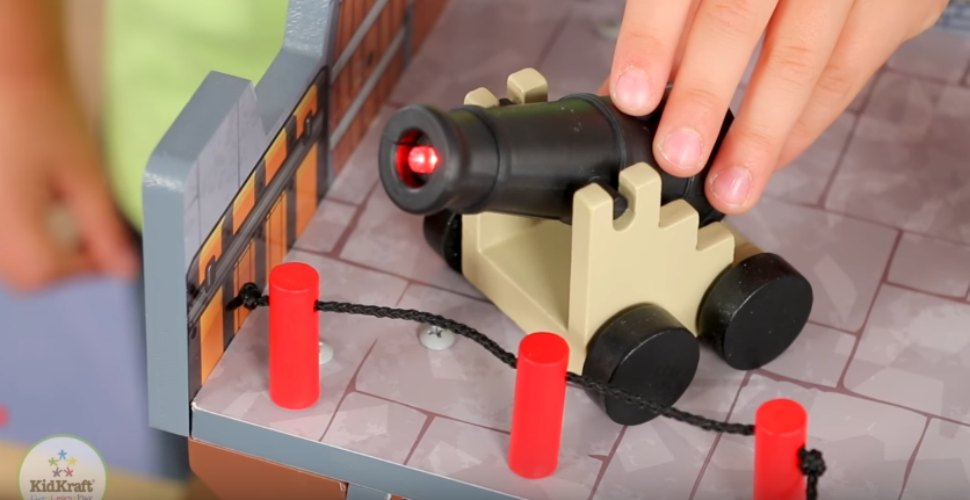KidKraft Pirate Playset Has Cannons With Lights and Sound