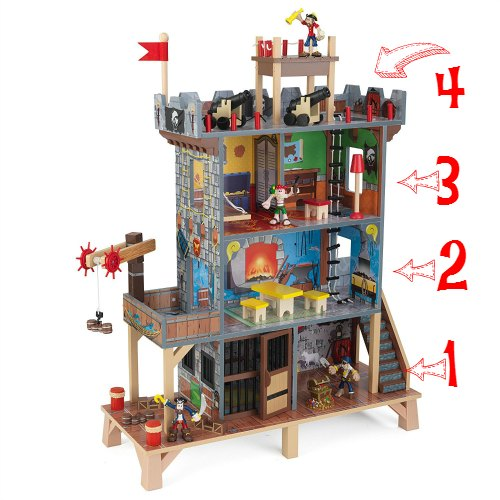 KidKraft Pirate Playset is 4 Level Hideout