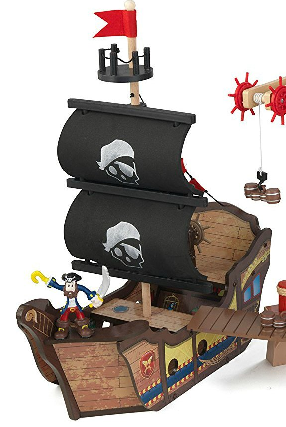KidKraft Pirates Cove Play Set - Pirate Ship Has Fabric Sails