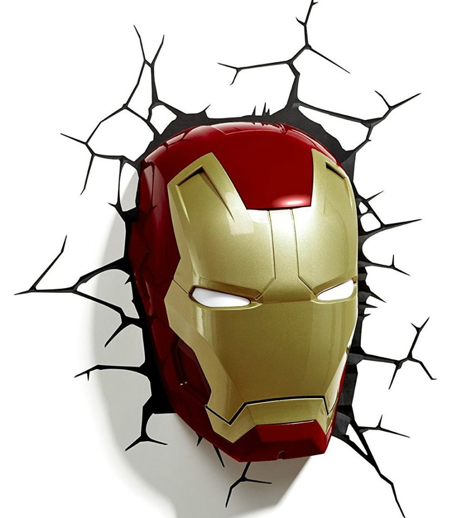 Iron Man 3D Light Up Eyes Wall Decor